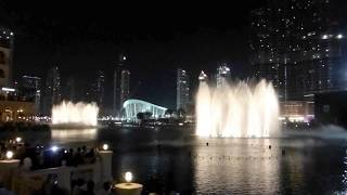 Dubai fountain   The world's greatest dancing fountains    Enta Omri by Mohammed Abdel Wahab