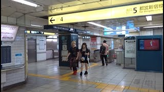 東京メトロ日比谷線秋葉原駅の岩本町方面改札口の風景