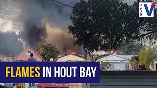 Watch: Fire and flames in Hout Bay