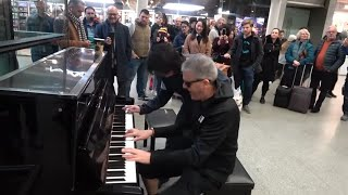 Epic Piano Battle Brings Crowd To A Standstill