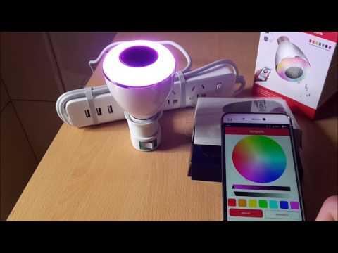 BL08A Smart Bluetooth Music Speaker Lamp LED Bulb E27