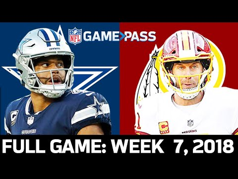 Dallas Cowboys vs. Washington Redskins Week 7, 2018 FULL Game