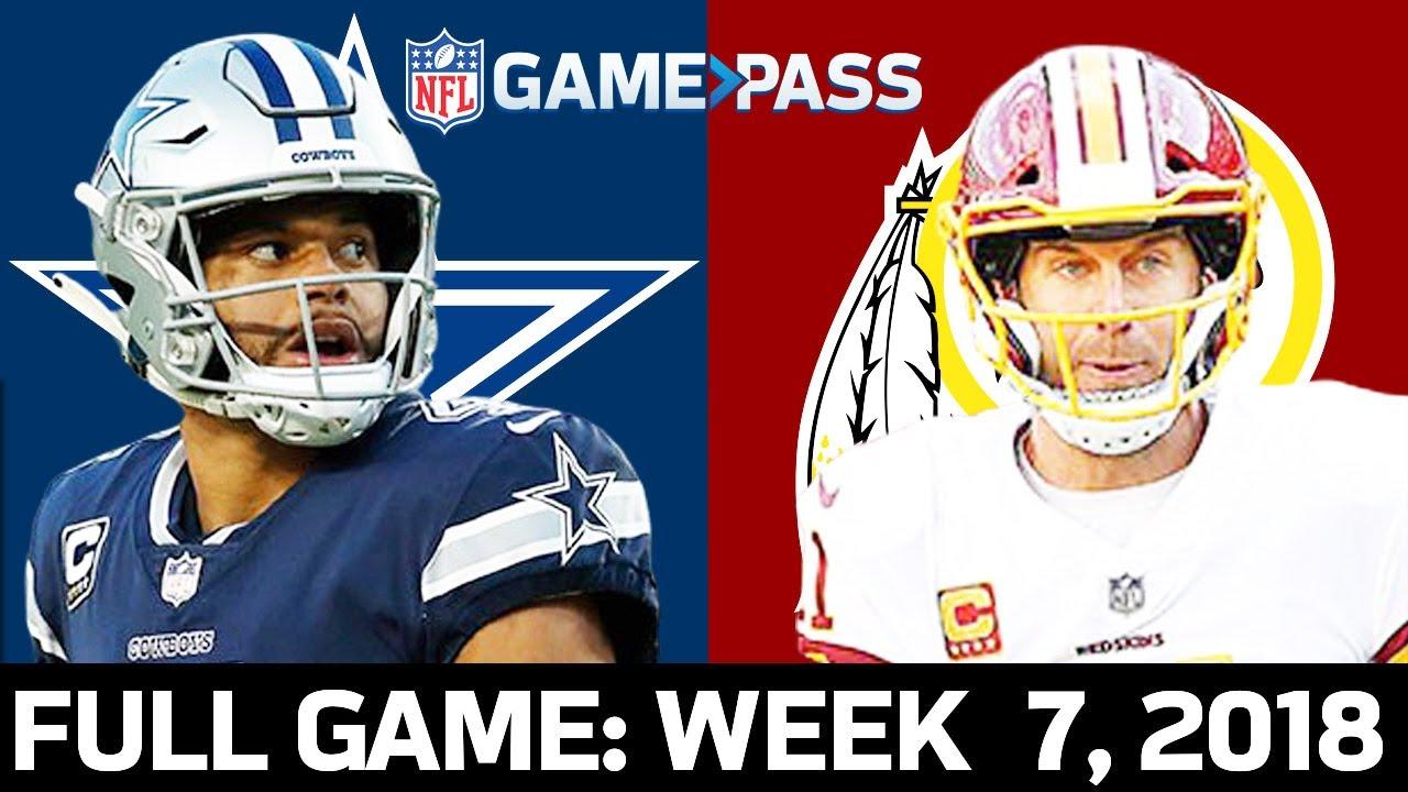 Download Dallas Cowboys vs. Washington Redskins Week 7, 2018 FULL Game