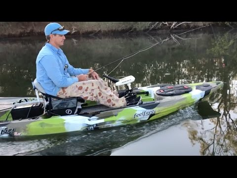 Feel free lure 11 5 with electric motor modification youtube for Feelfree lure 11 5 with trolling motor