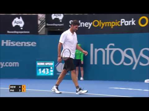 Hewitt/Philippoussis 'Legends Showcase' Highlights | Apia International Sydney