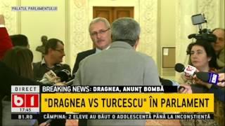 Scandal monstru în Parlament între Robert Turcescu și Liviu Dragnea