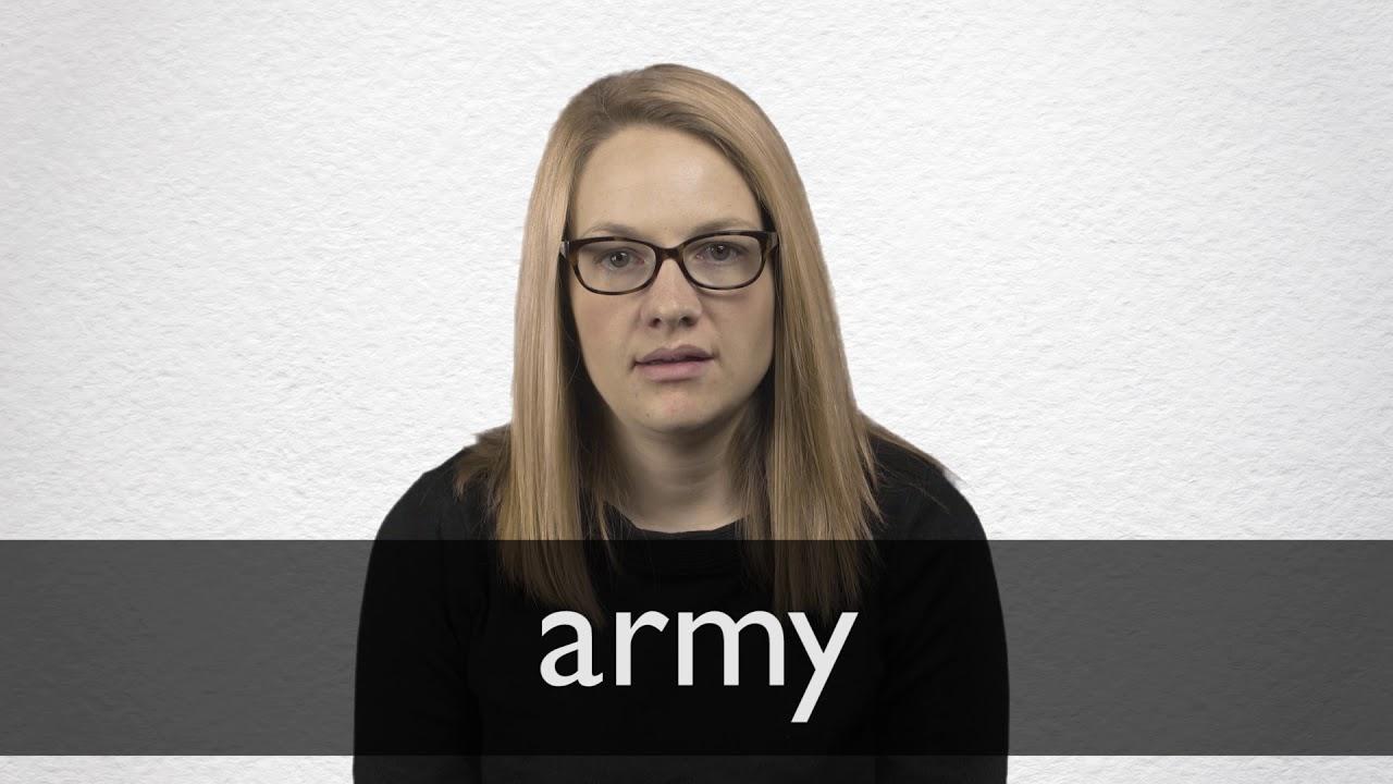 Army Definition und Bedeutung  Collins Wörterbuch