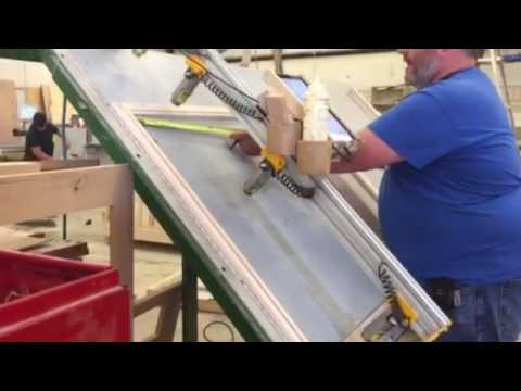Standard upper cabinet face frame assembly - YouTube