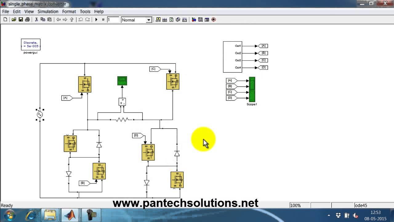 Single Phase Matrix Converter