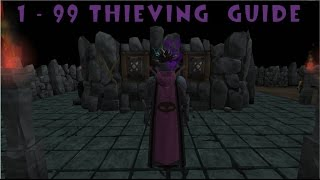 Runescape 1 - 99 thieving guide ironman/normal accounts
