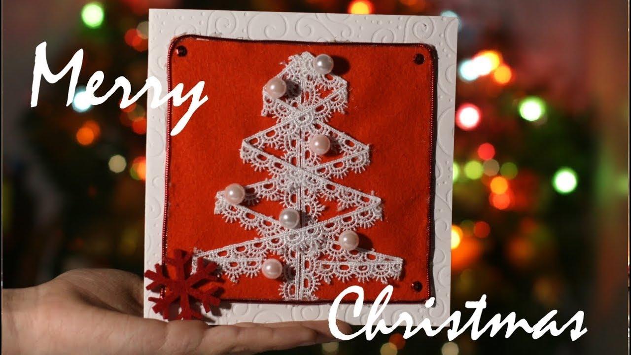 Новогодняя открытка за пять минут, для детей