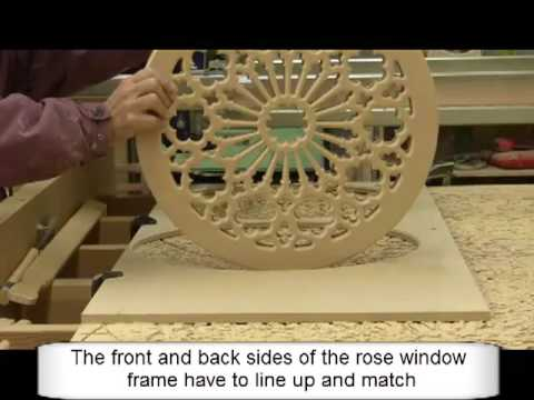 Making A Stained Glass Wood Rose Window Frame - YouTube