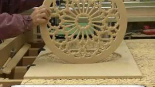 Making A Stained Glass Wood Rose Window Frame