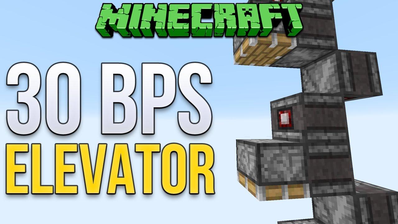 Minecraft Observer Block Elevator 30bps Tutorial Youtube Schematic