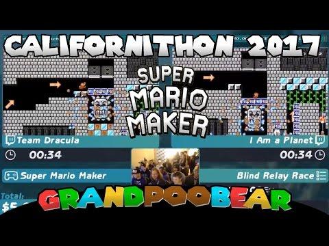 Mario Maker Blind Relay Race! Team Dracula VS I Am a Planet: MC'd by Ryukahr at Californithon 2017