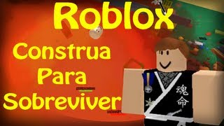 Playing Roblox-Build to survive!