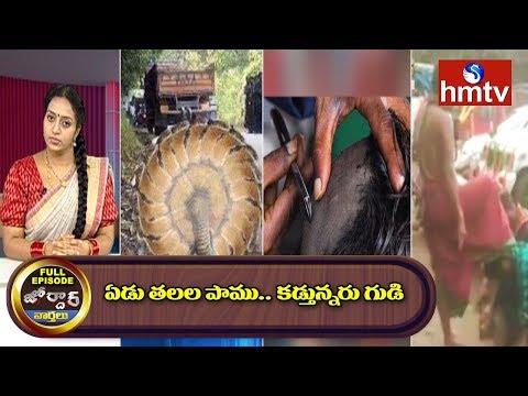 ఏడు తలల పాము కడ్తున్నరు గుడి  Jordar  Episode  Jordar News  hmtv Telugu News