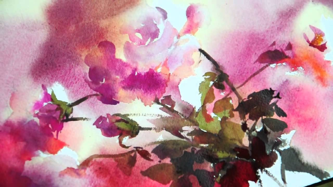 watercolorrhythm of flowers no1 by phatcharaphan chan
