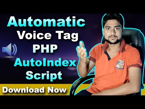 Automatic Voice Tag In PHP Mp3 Websites - PHP Script Download Now  - Hindi