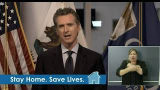Gavin Newsom is giving an update on coronavirus in California.
