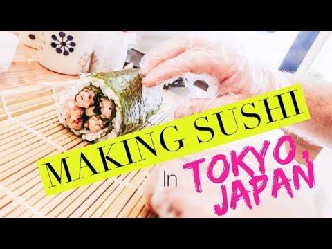 LEARNING TO MAKE SUSHI IN TOKYO, JAPAN 🍣    Travel Vlog