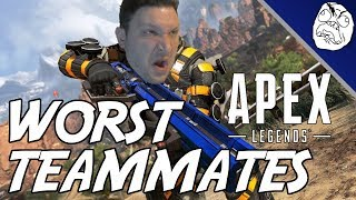 Apex Legends Rage Moments: The World's Worst Teammates!!!
