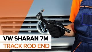 rear and front Windscreen washer motor installation VW SHARAN: video manual