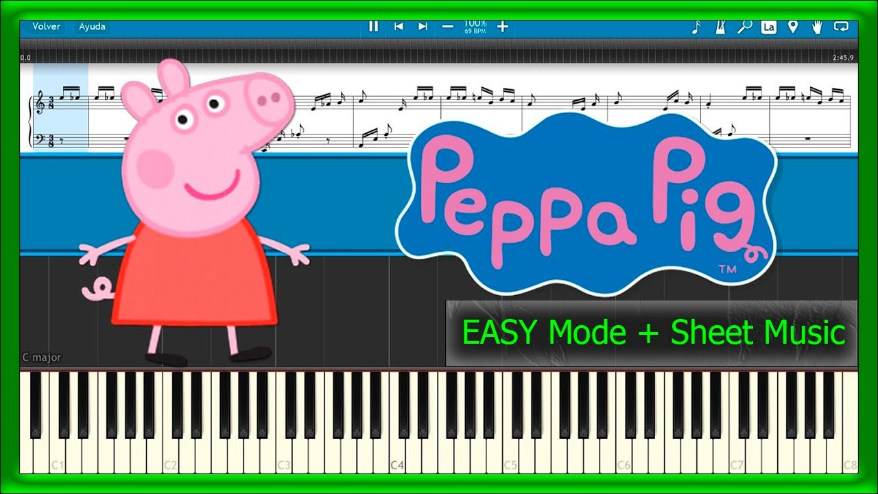 Peppa Pig - Theme Song [EASY Mode + Sheet Music] (Piano ...