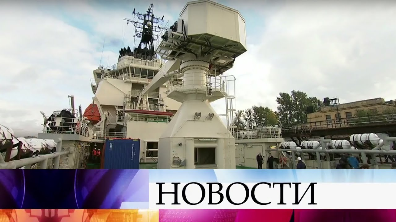 В Петербурге начались испытания новейшего российского ледокола «Илья Муромец»