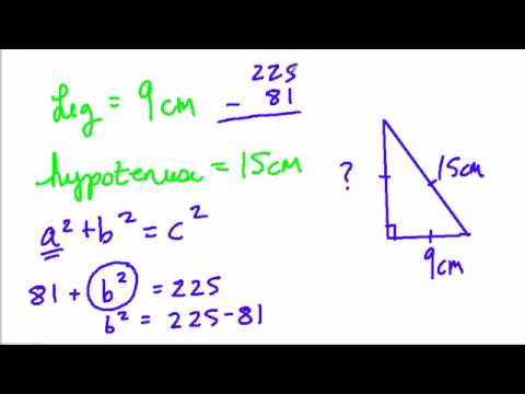 Pythagorean Theorem Finding A Missing Leg Youtube