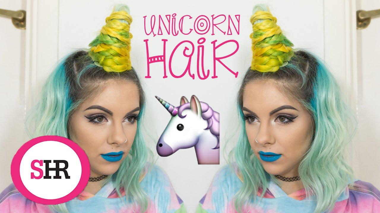 Unicorn horn hair tutorial sophie hannah richardson youtube solutioingenieria Choice Image