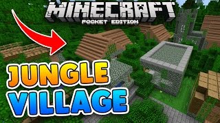 rare jungle village seed w jungle temple 1 0 9 minecraft pe pocket edition