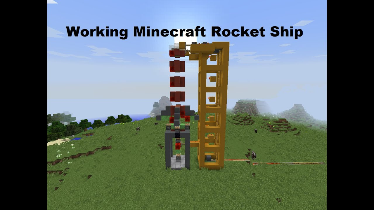 How To Build A Rocket Ship In Minecraft