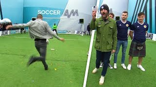 Scotland fans and Conor Coady take on the Soccer AM Volley Challenge! 💥