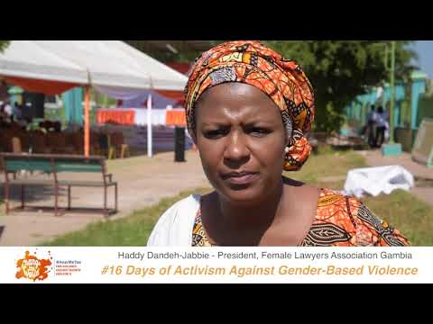 President of Female Lawyers Association of The Gambia (FLAG) shares her #iBelieve message for 16 Days of Activism against GBV