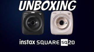 Unboxing FUJIFILM INSTAX SQUARE SQ20 Instant Film Camera