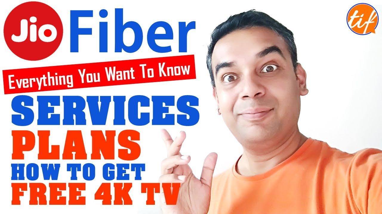 jio fiber launch services tariff plans free 4k tv stb. Black Bedroom Furniture Sets. Home Design Ideas