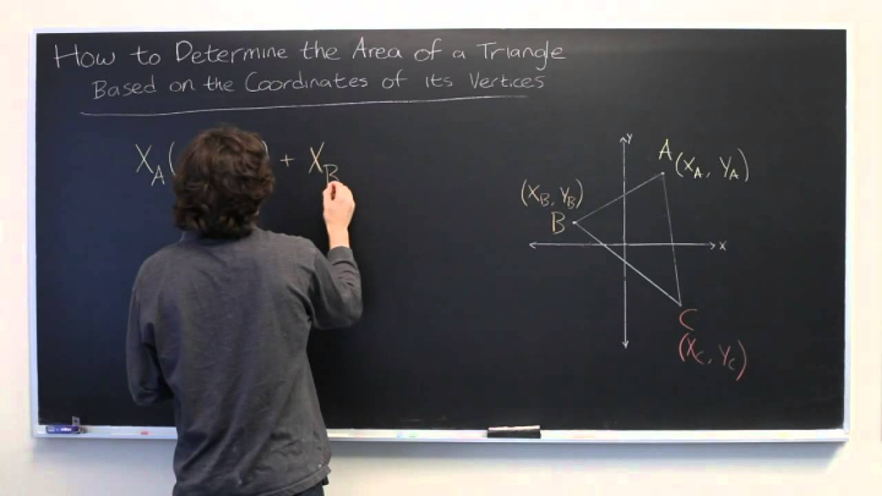 How To Determine The Area Of A Triangle Based On Coordinates Of Its  Vertices & Determinants