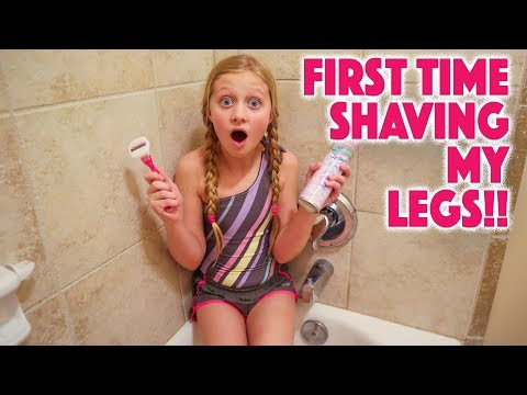 SHAVING MY LEGS for THE FIRST TIME!!!
