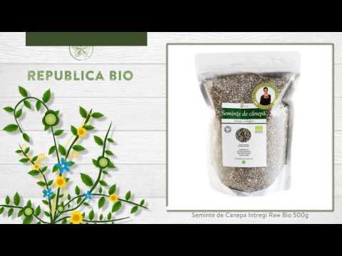 Seminte de Canepa Intregi Raw Bio 500g