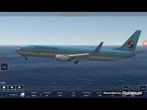 Korean air emergency landing-Infinite flight