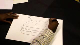 Elementary Art Lesson Plan: Food Head