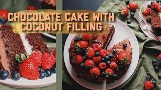 веганский шоколадно-кокосовый торт арвуле на др 🌿✨