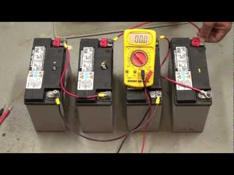 wiring batteries in series and parallel m4v youtube rh youtube com Hooking Batteries Together Wire Two Batteries Together