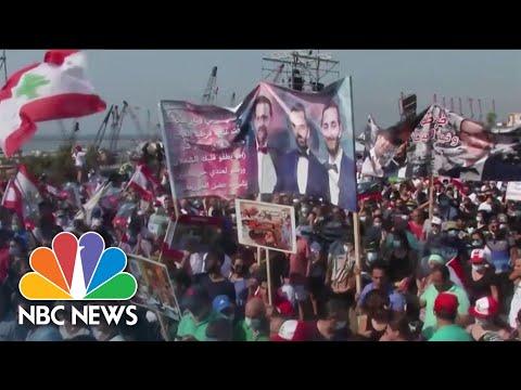 Protests in Beirut One Year After Devastating Port Explosion