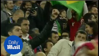 Turkey fans applaud and chant for Neymar Jnr after scoring - Daily Mail