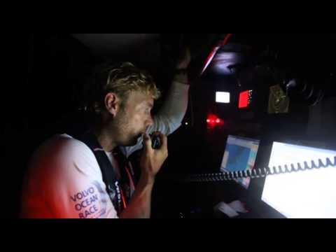 Volvo Ocean Race - Team Vestas Wind crash on St Brandon Island