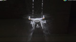 [Eng sub]DJI Phantom 4 Pro Extreme Durability Test: Splash Water/Cut Off Props/Crash Against Trees