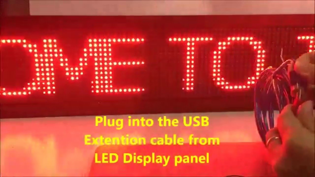 How To Program Led Running Message Board Using Powerled With Tfs5u Electronics Circuit Clock Displays And Timing For Single Computer Controller Youtube