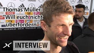 Thomas Müller zu Reportern: Will euch nicht überfordern | DFB | Deutschland - Spanien | SPOX Viral